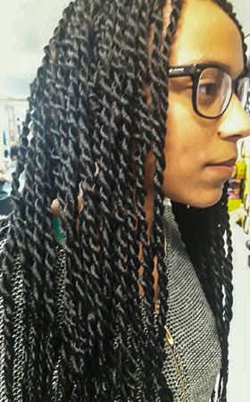 tresses africaine longues